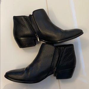 Sam Edelman black leather petty boot